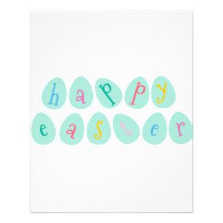 Happy Easter Eggs in Aqua Flyer