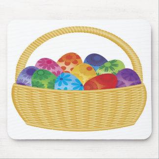 Happy Easter Eggs in Basket Mousepad