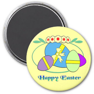 Happy Easter Eggs Refrigerator Magnet
