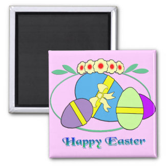Happy Easter Eggs Refrigerator Magnets