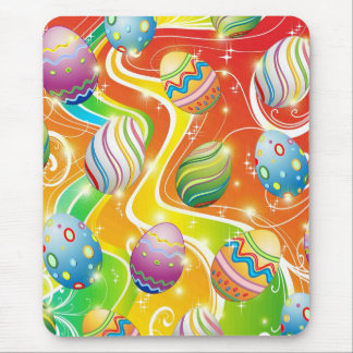 Happy Easter Eggs Ornamental Design Mouse Mat
