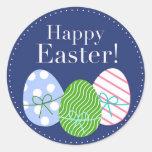 Happy Easter Eggs Round Sticker