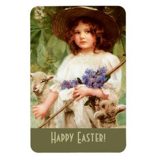 Happy Easter. Fine Art Easter Gift Magnet