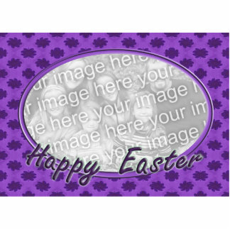 Happy Easter floral photo frame Standing Photo Sculpture
