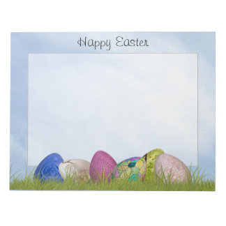 Happy Easter - Floral Photography Easter Eggs Notepad