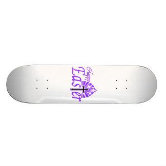 Happy Easter Flowers & Cross Skate Board