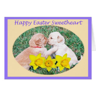 Happy Easter for Sweetheart Greeting Card