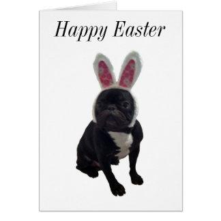 Happy Easter French Bulldog Bunny Card