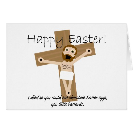 Happy Easter from Angry Jesus Card