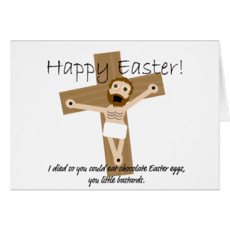 Happy Easter from Angry Jesus Greeting Card