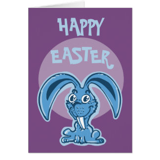 happy easter funny bunny cartoon card
