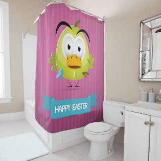 Happy Easter Funny Duck Shower Curtain