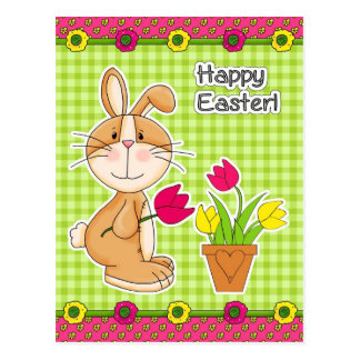 Happy Easter. Funny Easter Bunny Postcards
