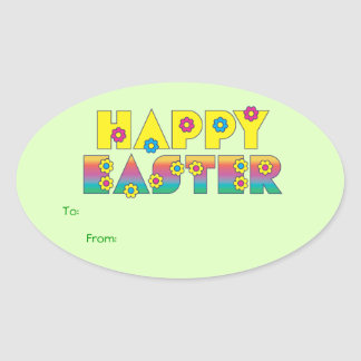 Happy Easter Gift Tag Stickers