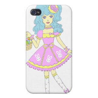 Happy Easter Girl Covers For iPhone 4