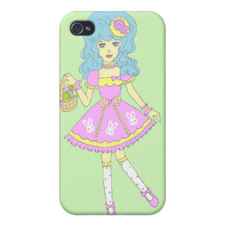 Happy Easter Girl Green iPhone 4/4S Case