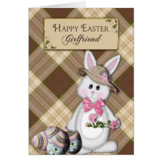 Easter for girlfriend gifts t shirts art posters other gift happy easter girlfriend bunny card negle Choice Image