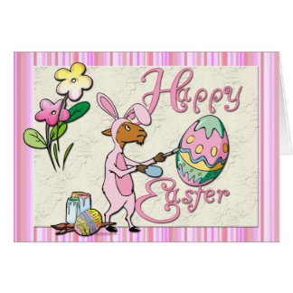 Happy Easter Goat Greeting Cards