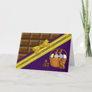 Goddaughter easter gifts gift ideas zazzle uk happy easter goddaughter chocolate card negle Gallery