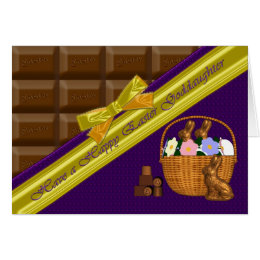 Goddaughter easter gifts on zazzle uk happy easter goddaughter chocolate card negle Gallery