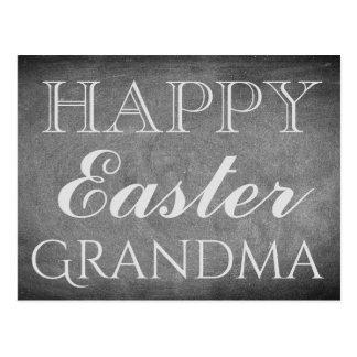 Happy Easter Grandma Chalkboard Typography Postcard