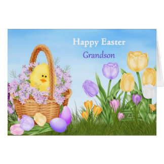 Happy Easter Grandson Card