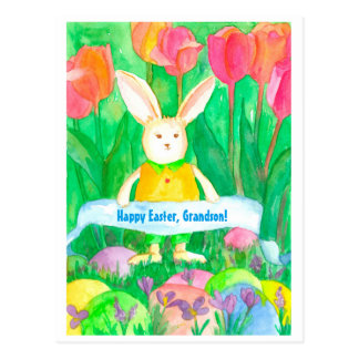 Happy Easter Grandson Custom Postcard