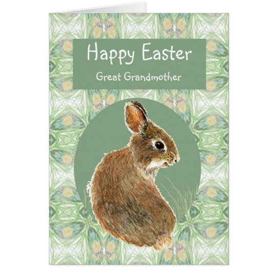 Happy Easter Great Grandmother Bunny Rabbit Card