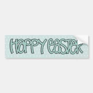 Happy Easter green Bumper Sticker Car Bumper Sticker