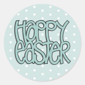 Happy Easter green dot Sticker