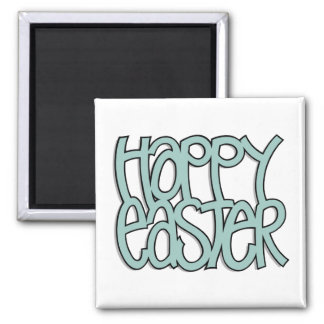 Happy Easter green Magnet