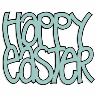Happy Easter green Sculpture Photo Cut Out