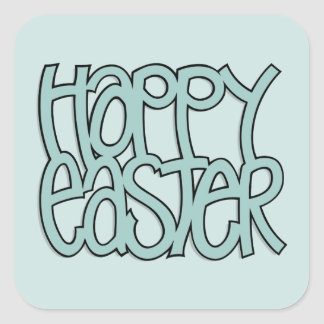 Happy Easter green Square Sticker