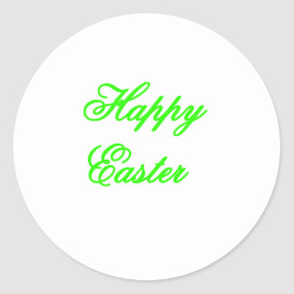 Happy Easter Green The MUSEUM Zazzle Gifts Sticker