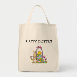 HAPPY EASTER!!! GROCERY TOTE