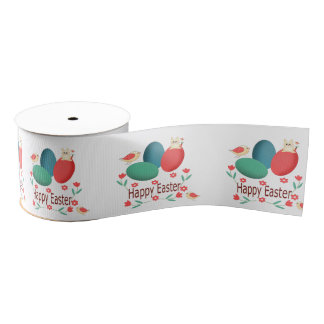 Happy Easter Grosgrain Ribbon