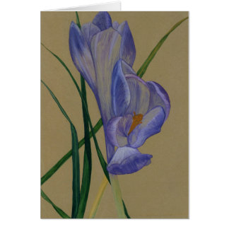 Happy Easter Hand Painted Crocus© Design Card