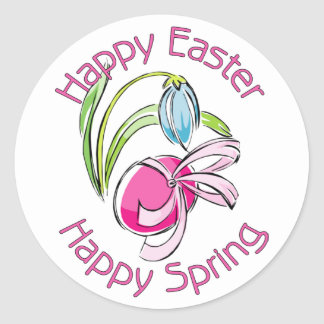 Happy Easter, Happy Spring Stickers