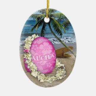 Happy Easter Hawaiian Style Christmas Ornament