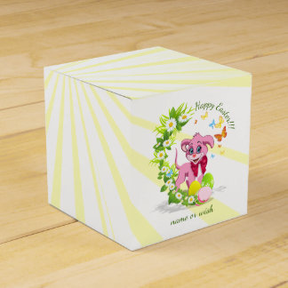 Happy Easter Heart Nose Puppy Cartoon Favour Box