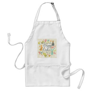Happy easter,hipster,trendy,retro,vintage,cute,fun adult apron
