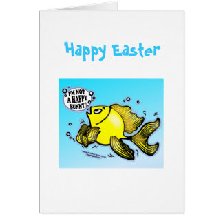 HAPPY EASTER I m not a Happy Bunny funny greeting Cards