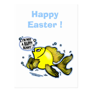 HAPPY EASTER I'm not a Happy Bunny funny greeting Postcard