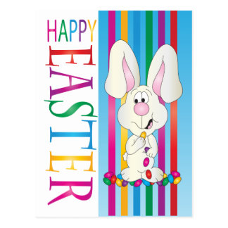 Happy Easter Jelly Bean Bunny Postcard