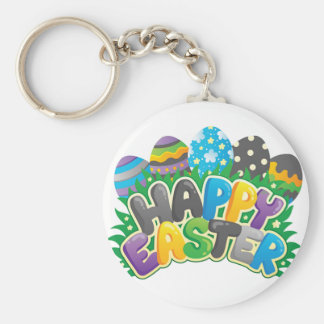 Happy Easter Key Ring