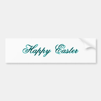 Happy Easter l Cyan The MUSEUM Zazzle Gifts Bumper Sticker