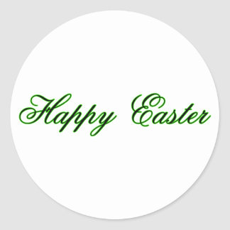 Happy Easter l Green The MUSEUM Zazzle Gifts Round Stickers