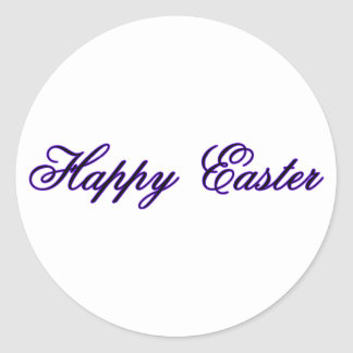 Happy Easter l Purple The MUSEUM Zazzle Gifts Round Sticker