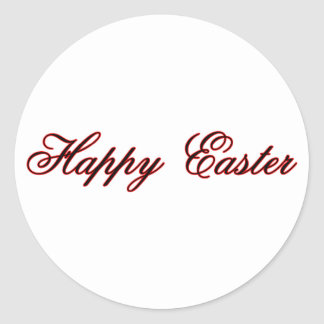 Happy Easter l Red The MUSEUM Zazzle Gifts Round Sticker