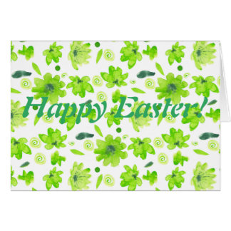 Happy Easter light green greeting card. Card